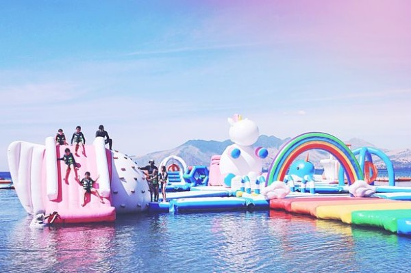 A Giant Inflatable Unicorn Park Exists And It's Utterly Epic