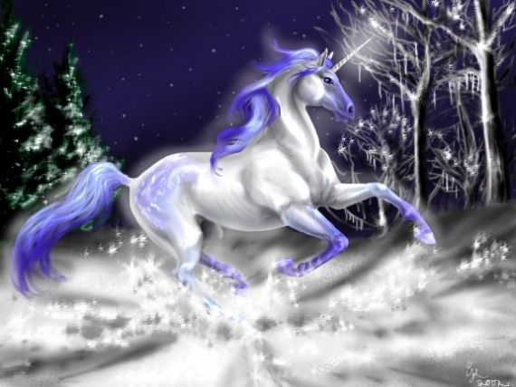 A Unicorn (from Latin Unus ' One' And Cornu ' Horn') Is A