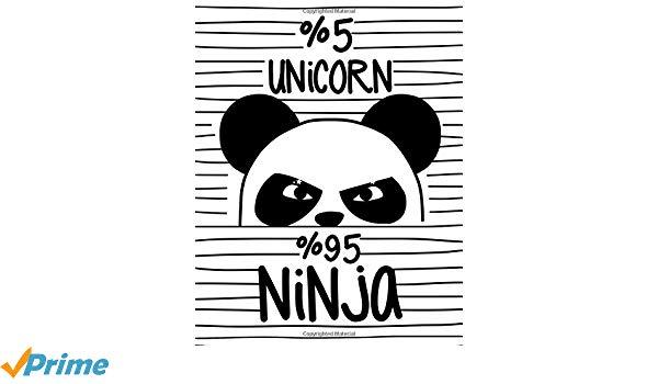 Amazon Com  5  Unicorn 95  Ninja (journal, Diary, Notebook For