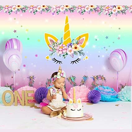 Amazon Com   Aytai 7x5ft Unicorn Backdrop Birthday Party