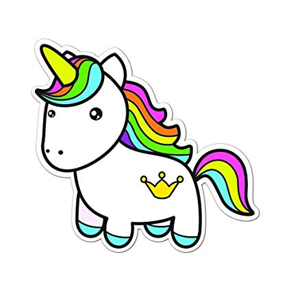 Amazon Com   Colorful Rainbow Unicorn Full Color Vinyl Decal