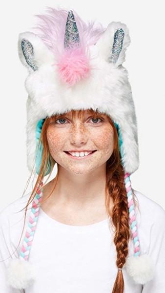Amazon Com   Justice Beanie Unicorn Winter Ear Flap Hat Pastel