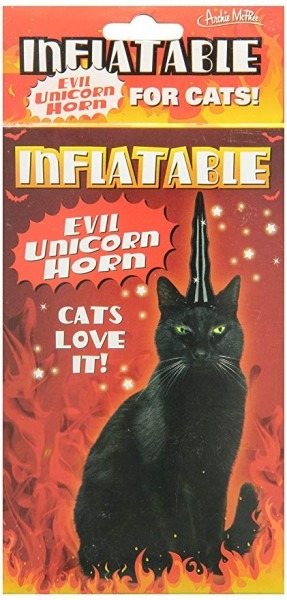 Amazon Com  Accoutrements Inflatable Evil Unicorn Horn For Cats