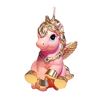 Amazon Com  Baby Birthday Candle Unicorn Cake Topper With Greeting