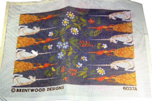 Amazon Com  Brentwood Designs Needlepoint Canvas 6037a Unicorn