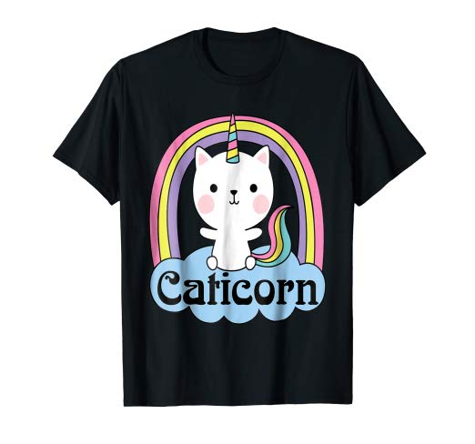 Amazon Com  Caticorn Cat Unicorn T Shirt Rainbow Unicorn Cat  Clothing