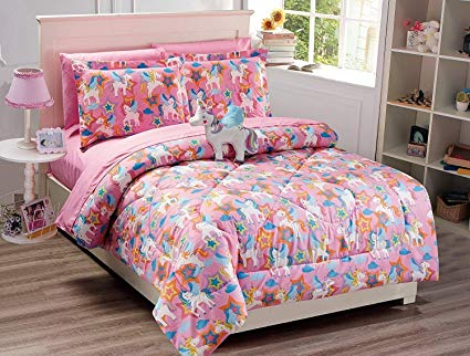 Amazon Com  Fancy Collection 8pc Full Size Comforter Set Unicorn
