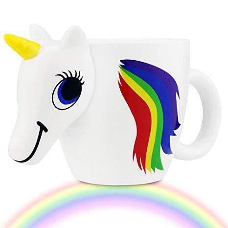 Amazon Com  Hibour Color Changing Unicorn Mug Heat Sensitive