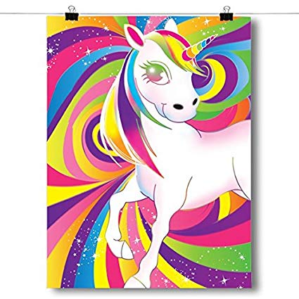 Amazon Com  Inspired Posters Rainbow Unicorn Swirls Poster Size