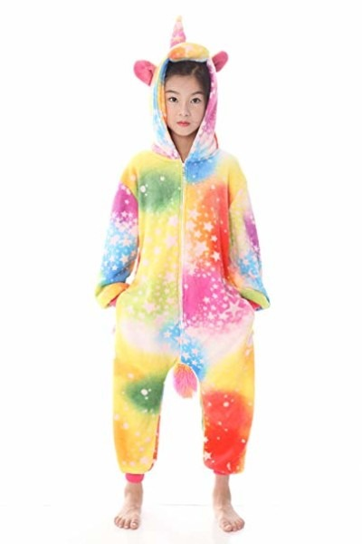 Amazon Com  Kids Unicorn Onesie Pajamas Costume