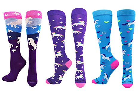 Amazon Com  Madsportsstuff Neon Unicorn Socks Over The Calf  Clothing
