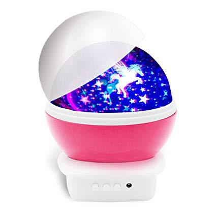 Amazon Com  Mictchz Unicorn Night Light Projector, Kids Moon