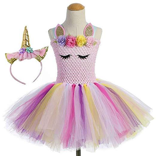 Amazon Com  Moda Unicorn Tutu Dress For Girls Kids Birthday Party