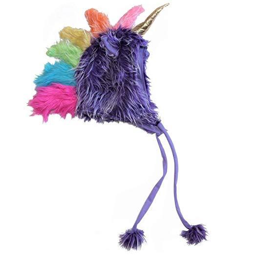 Amazon Com  Plush Soft Fuzzy Unicorn Child Teen Hat (one Size