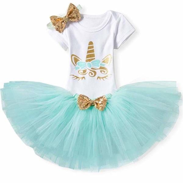 Amazon Com  Ttyaovo Baby Girl 1st Birthday 3pcs Unicorn Outfits