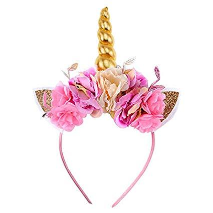 Amazon Com  Unicorn Horn Headband, Aiernuo Photo Props Gold Cat