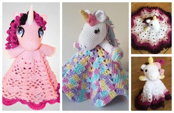 Amigurumi Unicorn Security Blanket Free Crochet Pattern & Paid