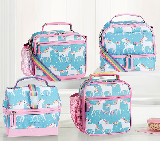Aqua Unicorn Kids Lunch Box