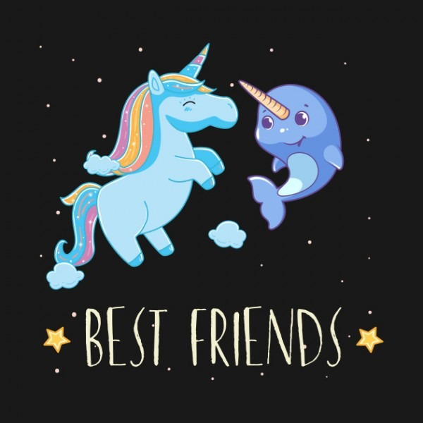 Awesome Unicorn And Narwhal Shirt Best Friends Tee