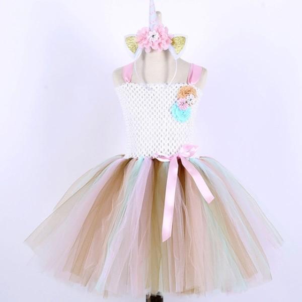 Baby Girl Pony Tutu Dress For Children Birthday Party Unicorn