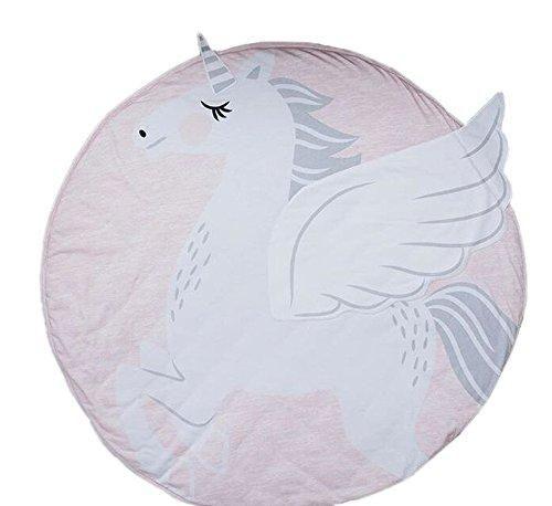 Baby Play Mat White Unicorn Subtle Theme