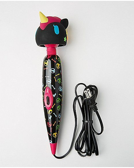 Black Unicorn Wand Massager