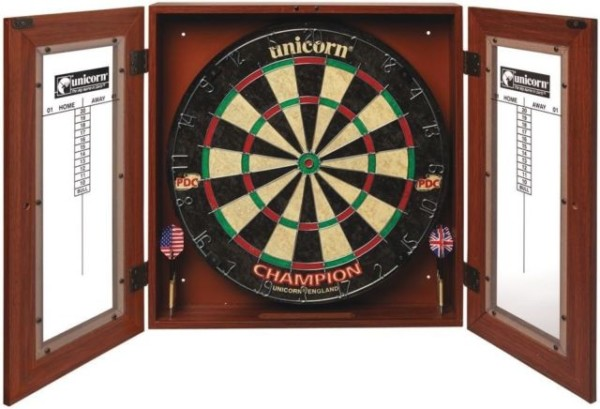 Bristle Dart Board Cabinet Set