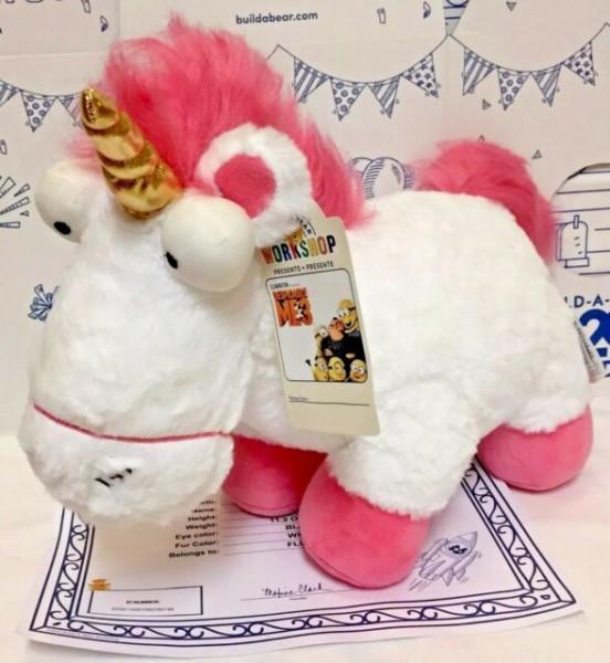 Build A Bear Despicable Me 3 Fluffy Agnes Unicorn Retired Rare Htf