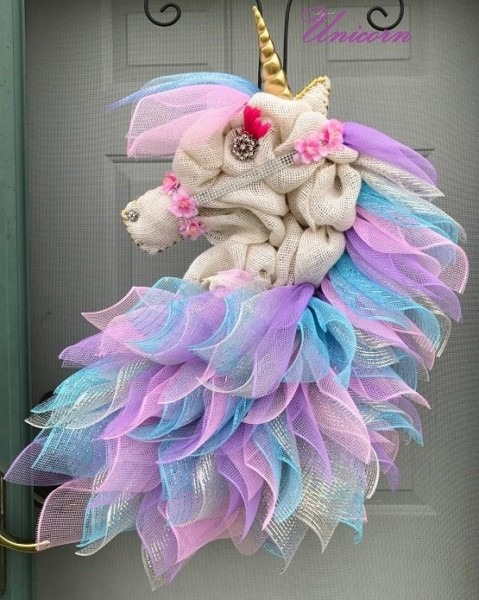 Burlap Unicorn Wreaththis Is Such An Adorable Craft For The