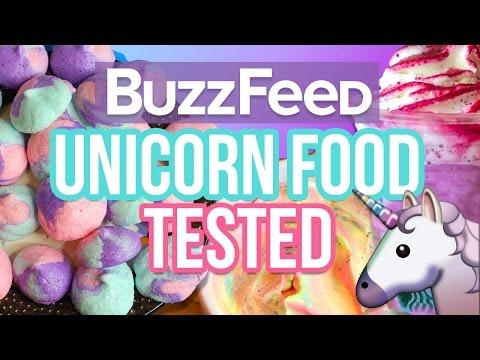 Buzzfeed Unicorn Recipes Tested! Unicorn Poop, Unicorn Frap, And