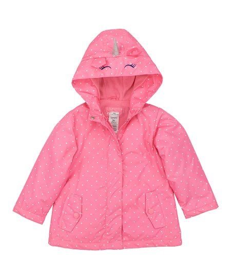 Carters Pink Unicorn Rain Jacket