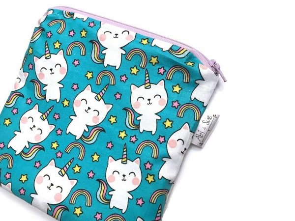 Cat Unicorn Reusable Snack Bags Snack Bags For Kids