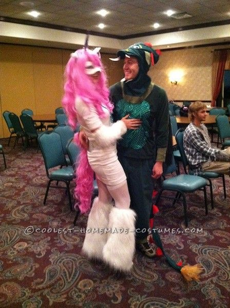 Coolest Mythical Creatures (unicorn And Dragon) Couple Costume