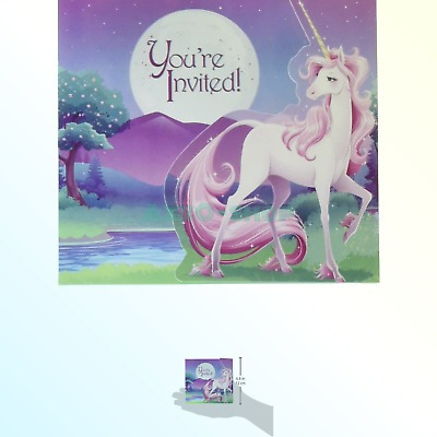 Creative Converting Unicorn Fantasy Invitations (8 Pack), One Size