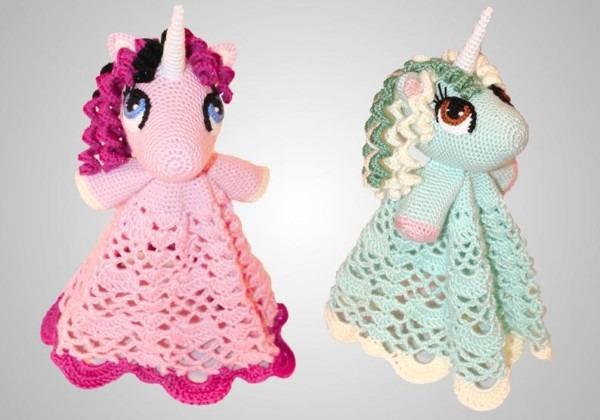 Crochet Unicorn Lovey Pattern  Cute Easy Instructions For