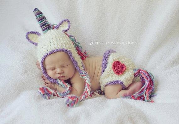 Crocheted Baby Unicorn Costume