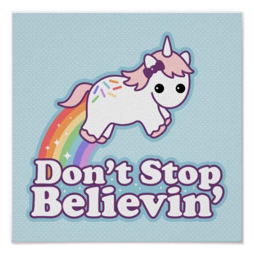 Cute Rainbow Unicorn Posters