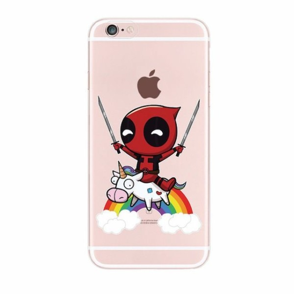 Details About Deadpool With Unicorn Case Cover For Iphone 5 5s 6