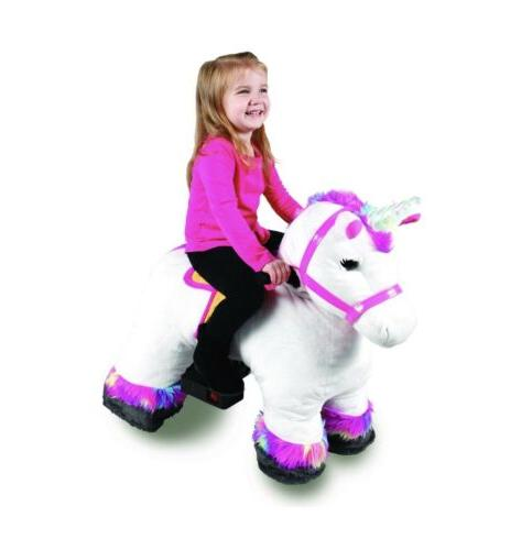 Dynacraft 6v Ride On Willow White Unicorn Horse
