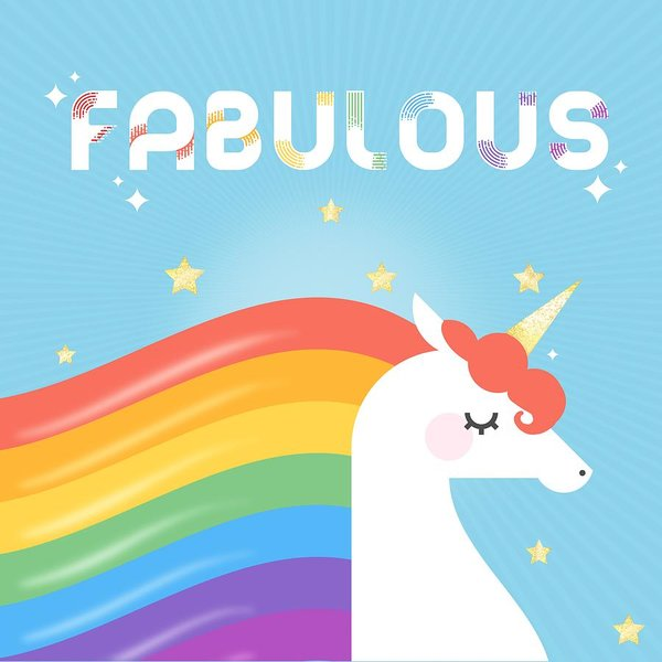 Fabulous Sparkling Rainbow Unicorn Poster By Little Bunny Sunshine