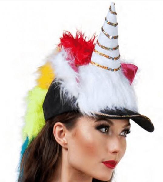 Faerynicethings   Adult Size Black And White Fuzzy Unicorn Hat