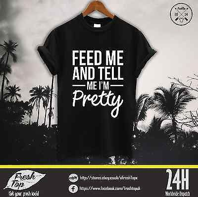 Feed Me And Tell Me Im Pretty T Shirt Top Coco Unicorn Tumblr