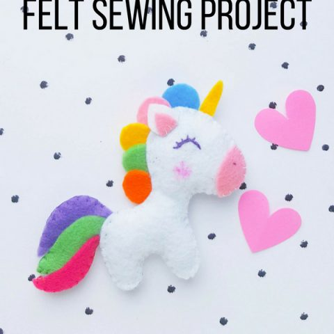 Felt Unicorn Sewing Project ⋆ Sugar, Spice And Glitter