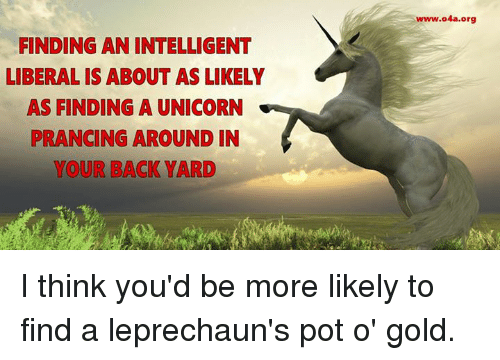 Finding An Intelligent Liberalis About As Likely As Finding A