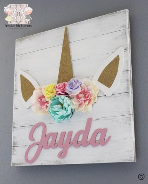 Floral Unicorn Pallet Sign, Unicorn Nursery Sign, 3d Unicorn Sign