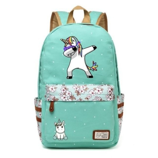 Free Shipping + 70  Off Cute Cartoon Unicorn Canvas Backpack For