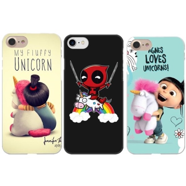 Funny Minion My Unicorn Phone Cases For Iphone X 5 8 Deadpool