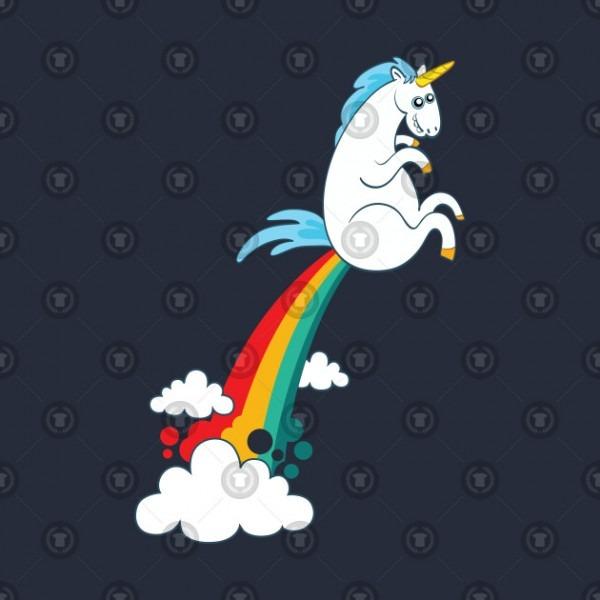 Funny Unicorn Fart Rainbow Cloud