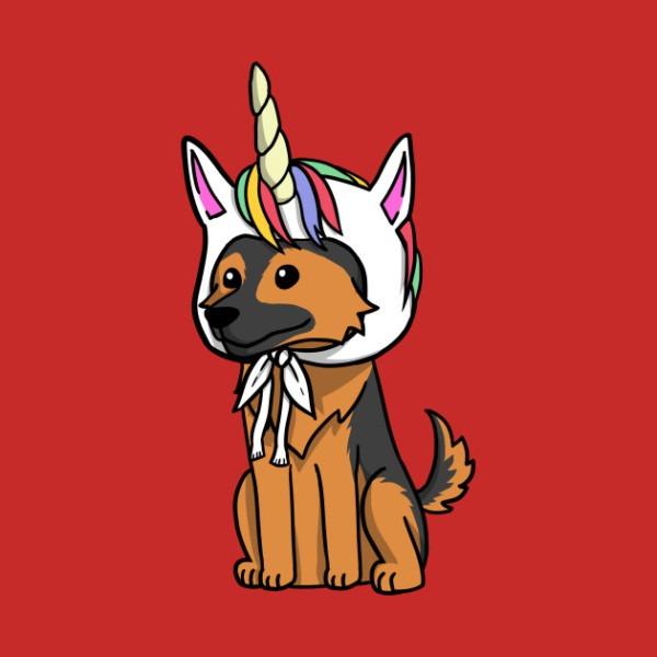Funny Unicorn German Shepherd
