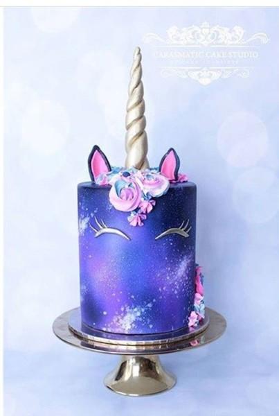 Galaxy Unicorn Cake